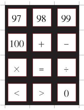 Math & Number Cards (Black Border)