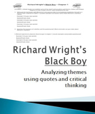 Black Boy by Richard Wright Ch1 Themes and Arguments