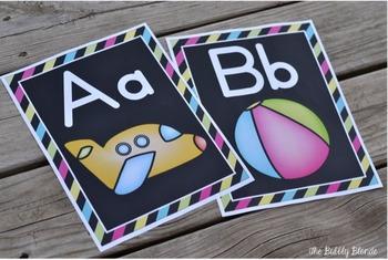 Black & Bright Alphabet Posters