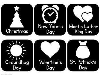Black and Bright Calendar