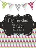 Black & Bright Chevron Bunting Binder Covers