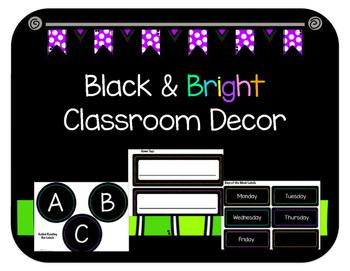 Black & Bright Classroom Decor Growing Bundle