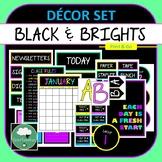 Black & Bright Classroom Décor Set