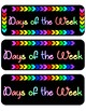 Black & Brights Days of the Week