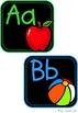 Black & Bright Mini Alphabet Posters