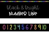 Black & Bright Number Line