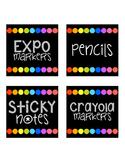 Black & Bright Supply Labels