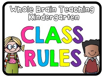 Black & Bright Whole Brain Teaching Rule Posters