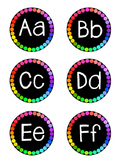 Black & Bright Word Wall Letters