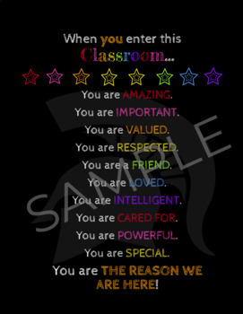 Black & Bright You Are the Reason We Are Here Poster