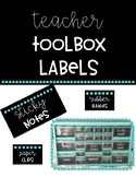 Black & Bright Teacher Toolbox Labels- 22 Drawer Toolbox (