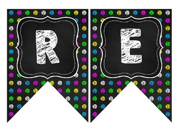 Black & Brights Classroom Bulletin Board Banners