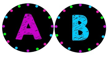 Black & Brights Classroom Decor Pack
