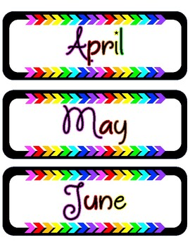 Black & Brights Months of the Year