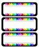 Black & Brights Name Tags/Labels