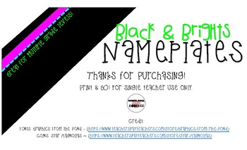 Black & Brights Nameplates