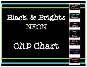 Black & Brights Neon Clip Chart