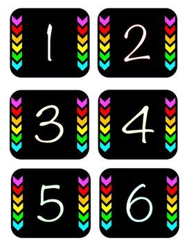Black & Brights Numbers 0-120