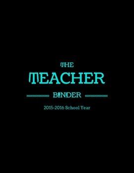 Black & Brights Teacher Binder Covers (2015-2016)