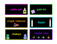 Black & Brights Teacher Toolbox Labels