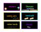 Black & Brights Teacher Toolbox Labels