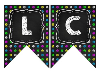 FREE Black & Brights Welcome Banner Chalkboard Theme