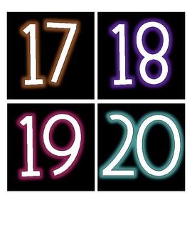 Black & Brights Word Wall/Numbers