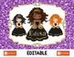 Black -- Brown Princess Digital Placemats