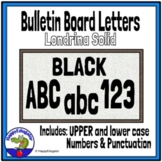 Bulletin Board Letters Black