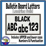 Bulletin Board Letters Printable Black