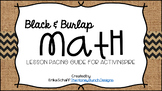 Black & Burlap Math Lesson Pacing Guide for ActivInspire