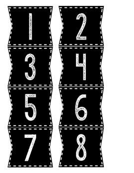 Black Calendar numbers