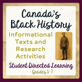 Canadian Canada Black History Reading Passages and Activities