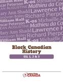 Black Canadian History (Bundled Set of ESL Lesson Plans)