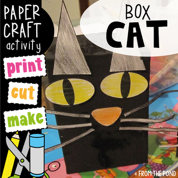 Free Box Cat Art Craft Activity By From The Pond Tpt