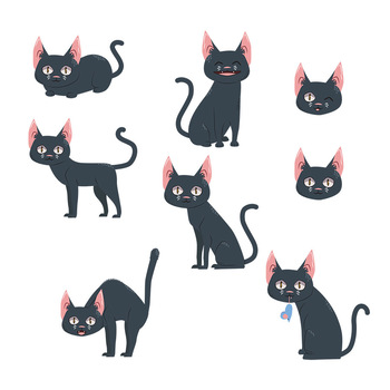 Black Cat Clipart Halloween Cat Clip Art Halloween Clipart