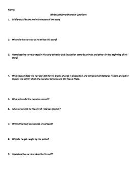 Black Cat Comprehension Questions