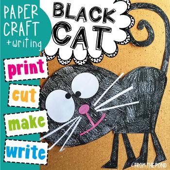 Halloween Black Cat Paper Craft