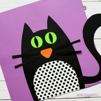 Black Cat Craft - Halloween Craftivity