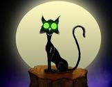 Black Cat Halloween Freebie