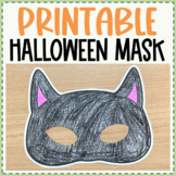 Black Cat Halloween Mask - Free Printable Craft