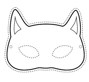 photograph about Printable Mask named Black Cat Halloween Mask - No cost Printable Craft