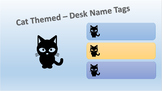 Black Cat Themed Name Tags - Desk Tags