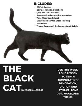 "Edgar Allan Poe's ""The Black Cat"" Week-long Lesson"