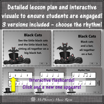 Music Lesson ~ Black Cats: Orff, Rhythm, Instruments and Improvisation