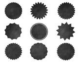 Black Chalk Labels, Black Clipart, Black Chalk Labels Set #032