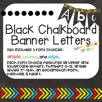 Black Chalkboard Banner Letters