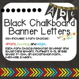 Chalkboard Banner Letters with Colored Arrows