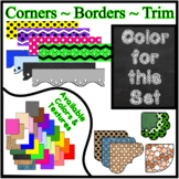 Black Chalkboard Borders Trim Corners *Create Your Own Dream Classroom/Daycare*