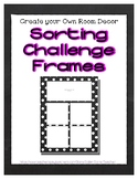Black Chalkboard Sorting Mat Frames * Create Your Own Drea